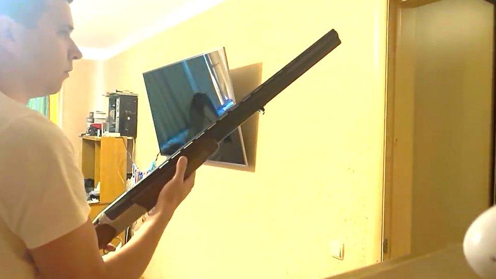 Кадр из видео, распространенного провластными источниками в Беларуси