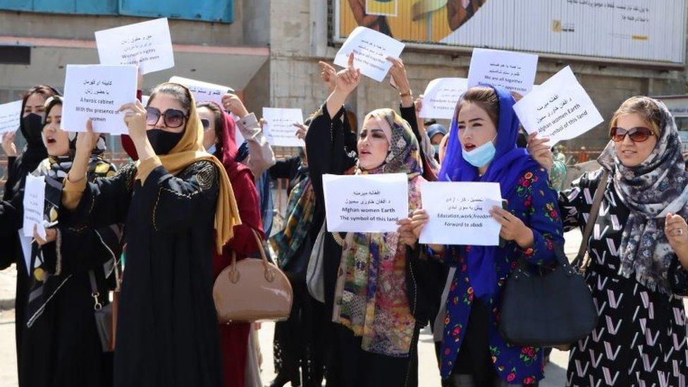 Протест женщин в Кабуле 3 сентября 2021 года