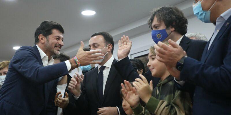 244371756 4456470691079508 6203828600259117235 n #новости выборы-2021, Ираклий Кобахидзе, Каха Каладзе, мэрия Тбилиси