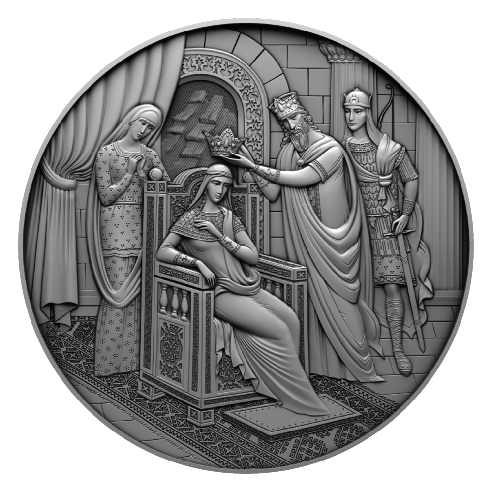 244714276 303104644522393 6109262068107840435 n #новости Витязь в тигровой шкуре, Грузия-Литва, Ива Джанезашвили, коллекционная монета, Литва, Шота Руставели